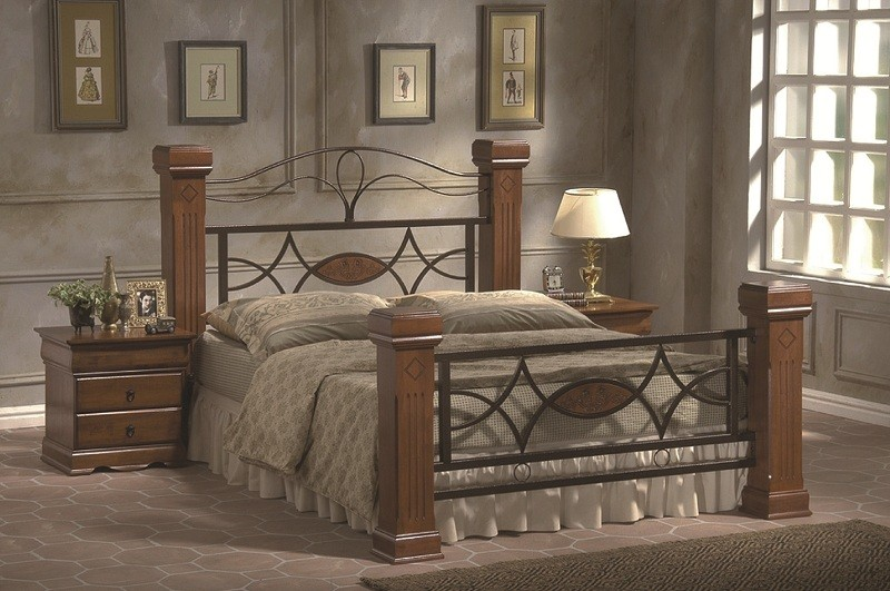 omega queen victoria wooden bed frame with luxurious mattress - Strong Bed Frame