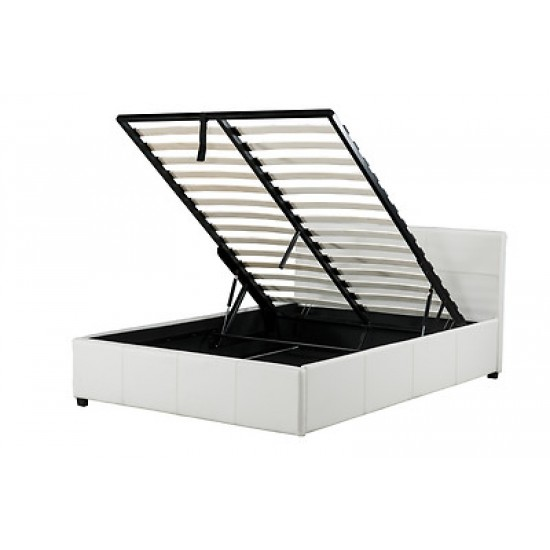 Hydraulic Lift Storage Bed : Storage hydraulic lift leather bed