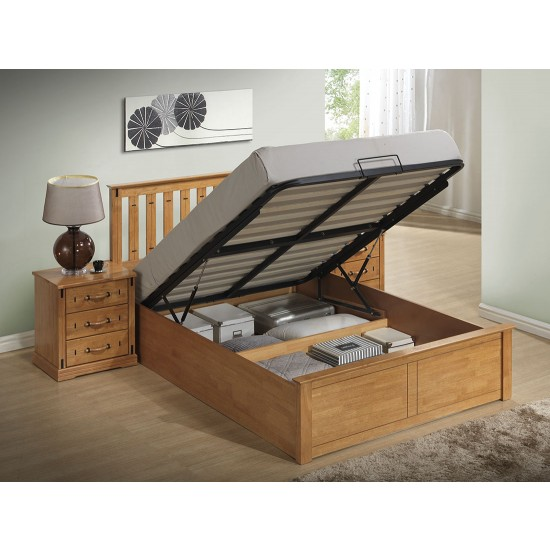Stanley Ottoman Stoarge Wooden Bed